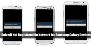 not registered on network samsung